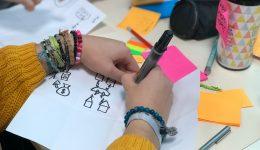 Freelance UX Designer Sketching ideas